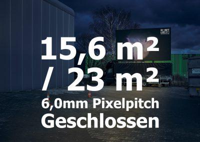 15,6qm/ 23qm – Geschlossener LED-Trailer – 6mm Pixelpitch
