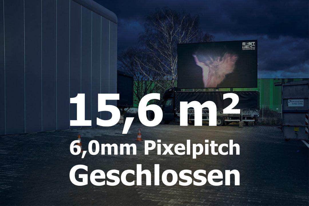 15,6qm – Geschlossener LED-Trailer – 6mm Pixelpitch