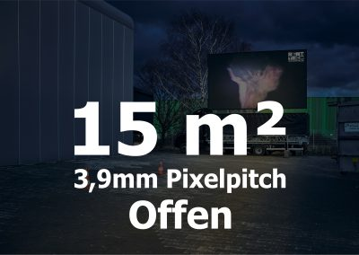 15qm – Offener LED-Trailer – 3,906m Pixelpitch