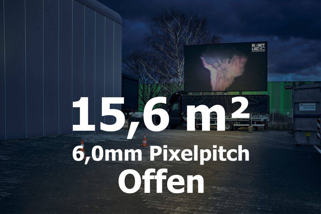 15,6qm – Offener LED-Trailer – 6mm Pixelpitch