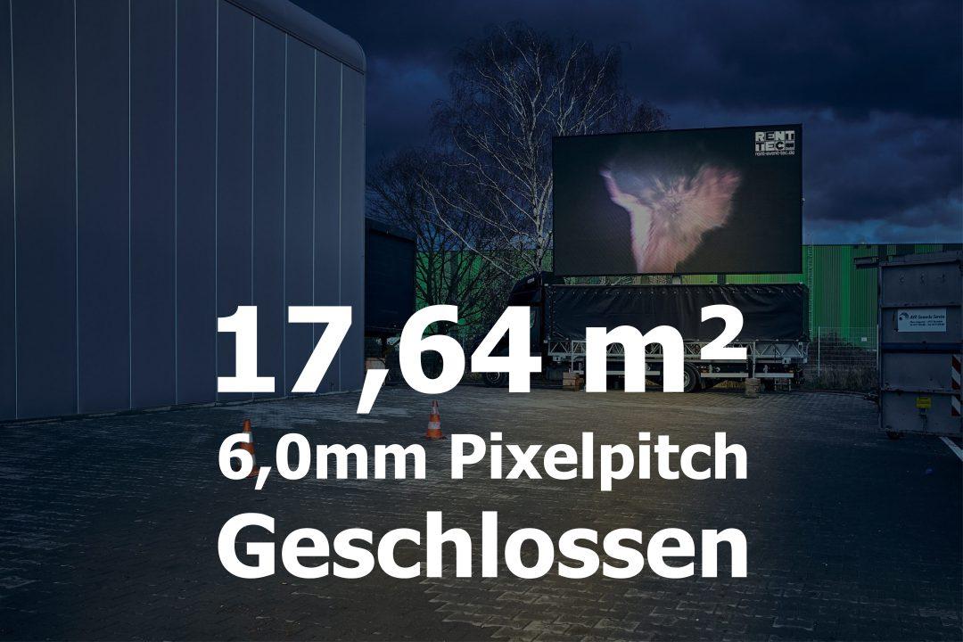 17,64qm – Geschlossener LED-Trailer – 6mm Pixelpitch