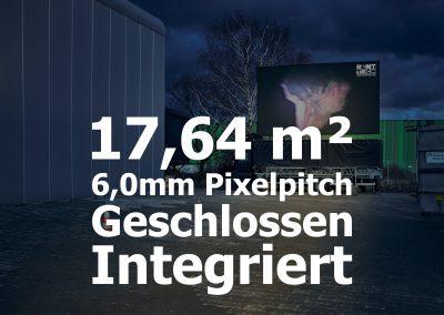 17,64qm – Geschlossener LED-Trailer- Integriert – 6mm Pixelpitch