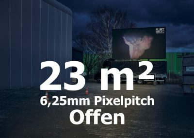 23qm – Offener LED-Trailer – 6,25mm Pixelpitch