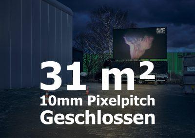 31qm – Geschlossener LED-Container – 10mm Pixelpitch