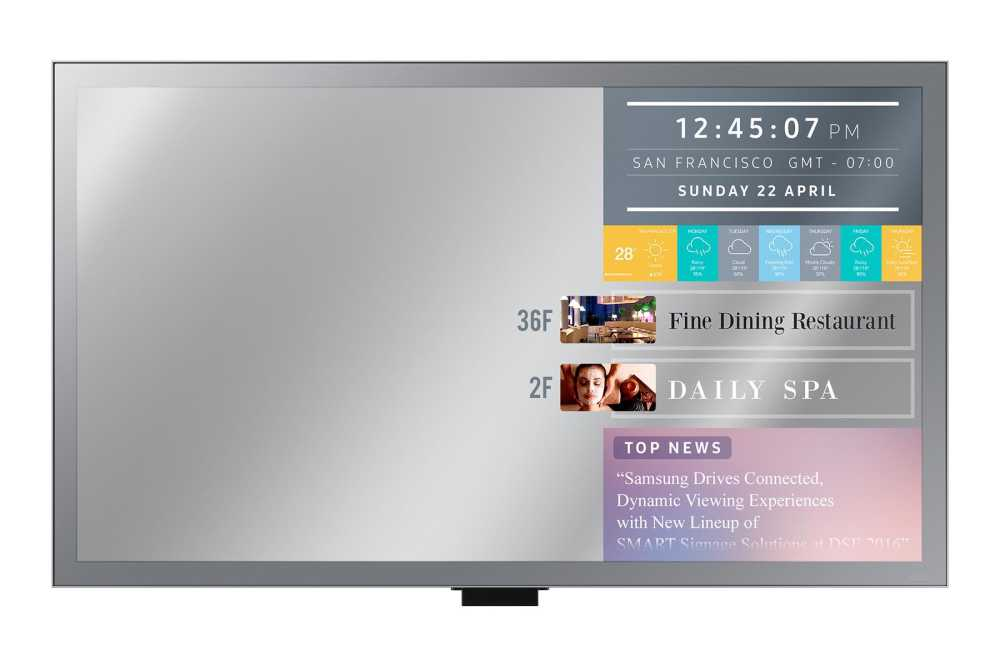 "Samsung ML55E  DL, 55"", Mirror Display"