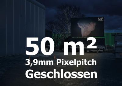 50qm – Geschlossener LED-Container – 3,9mm Pixelpitch